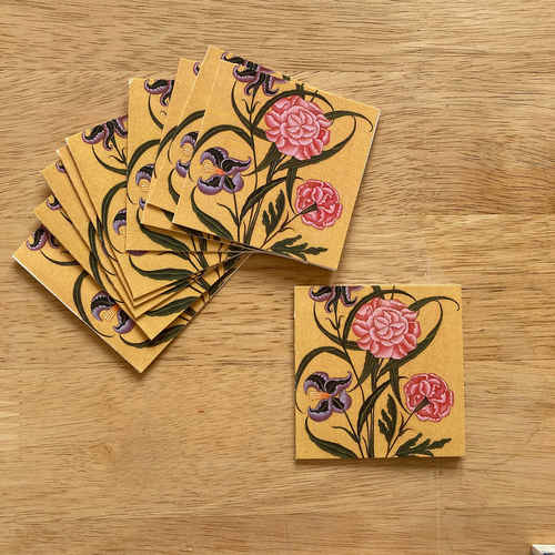 Gift Tag Set of 10 - Mughal Flowers