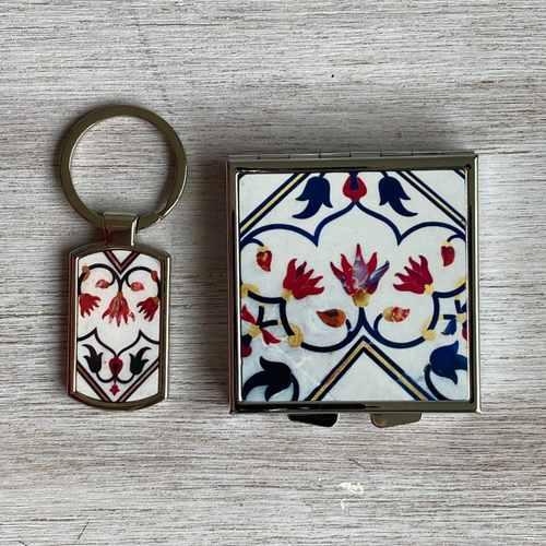 TAJ MAHAL - PILL BOX and KEYRING - Gift Pack
