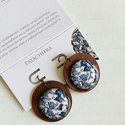 Earrings - Patachitra Bird