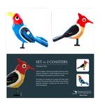 COASTERS _ SET OF 2 - Varanasi Birds