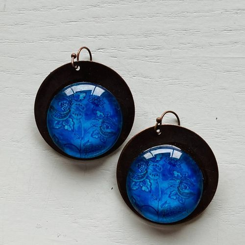 Earrings - Mughal Blue Flowers