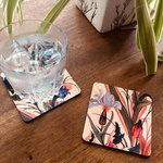 COASTERS _ SET OF 2 - Mughal Flowers