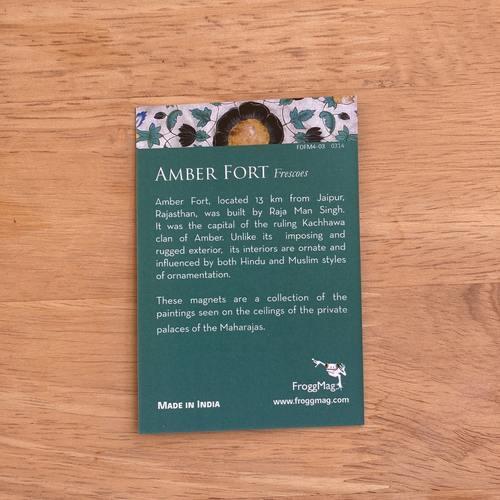 FRIDGE MAGNETS S04 - Amber Fort  Green