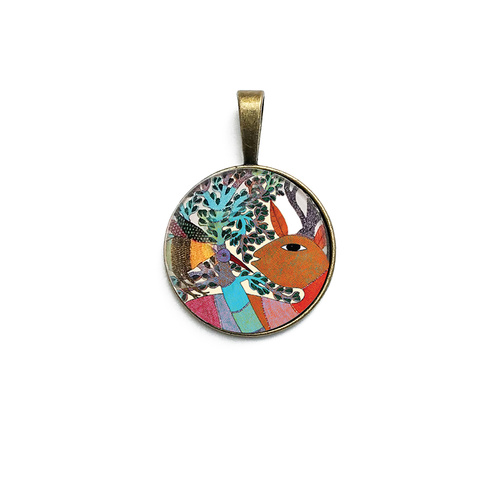 Art Pendant - Gond Forest