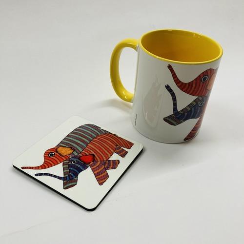 MUG With Coaster - Elephant