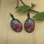 Oval Lever back earrings - Naqashi, Kashmir - Gul Hazara