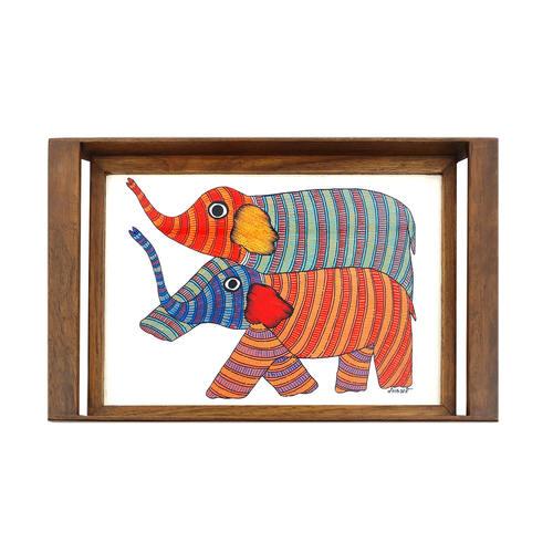 TRAY - Gond Elephant