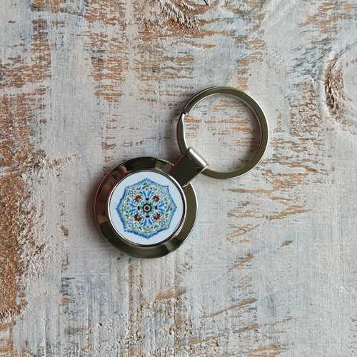KEY RING - Painted Medallion, Amer Fort - Jaipur