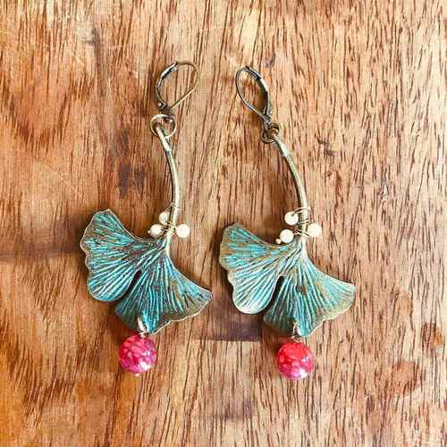 Earrings - Gingko Leaf
