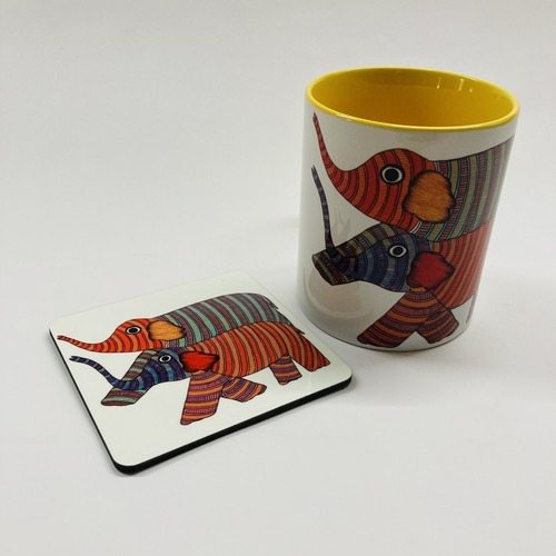 MUG With Coaster - Elephant