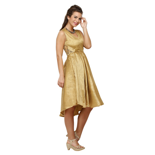 Gold Princess Flared Dress