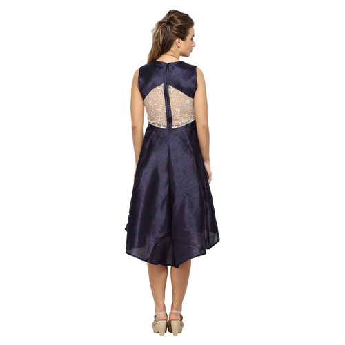 Evella Blue Silk Dress