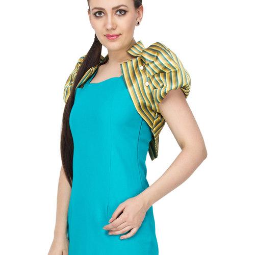 Havena Blue Striped Bolero Dress