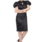 Mila Black Sheath Dress