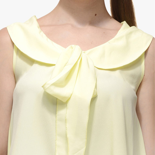 Albely Yellow Printed Blouse