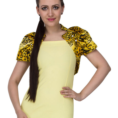 Solid Yellow Dress with Roar Jacket