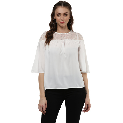 Albely White Sheer Top