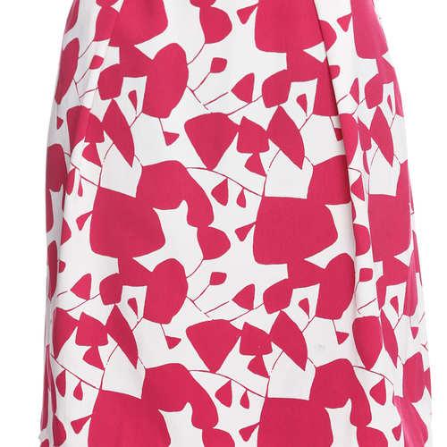 Ciara Printed Women's Pleated Pink Skirt