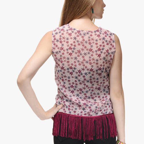 Isha Star Print Top