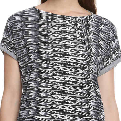 Evelyn Eye Print Top
