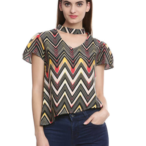 Chevron Chic Band Top