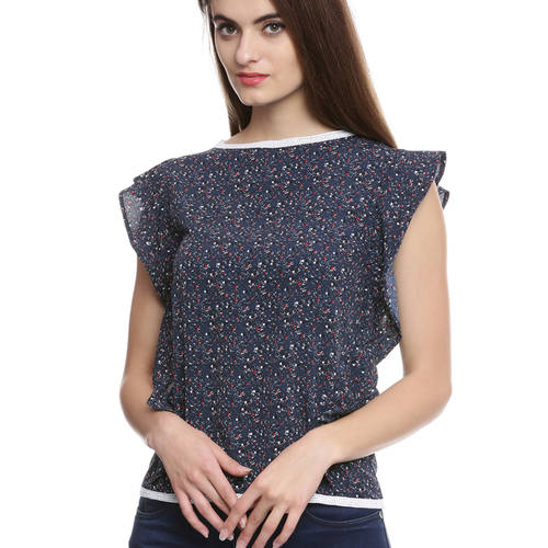 Ruffled Abby Blue Top