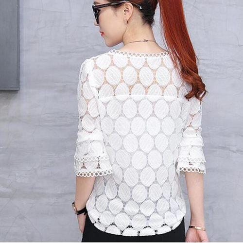 White Lace Designer Top