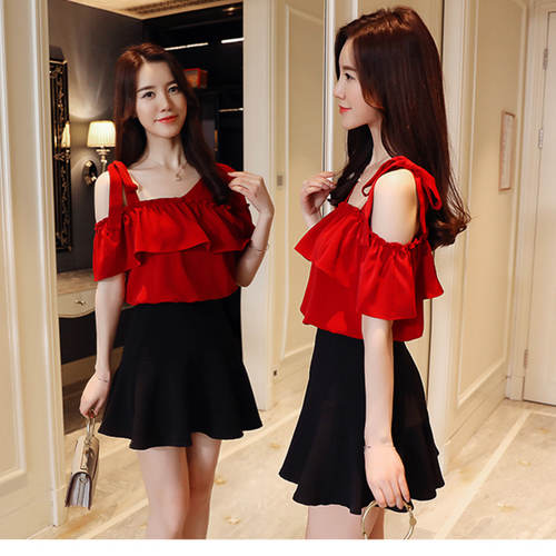 Hottest Selling Ruffle Red Top
