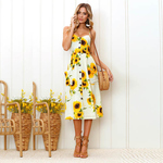 Floral Summer Cotton Silk Dress