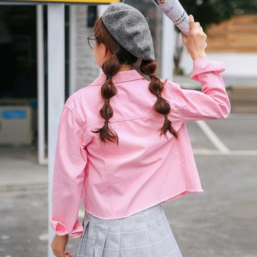 Pretty Pink Denim Jacket