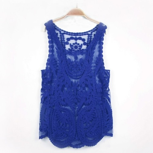 Embrodiered Cut Sleeve Top