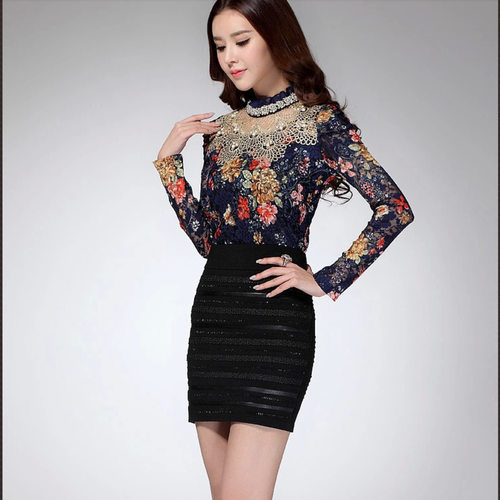 Party Wear Beaded Lace Top