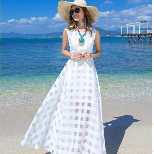 White Maxi Long Dress