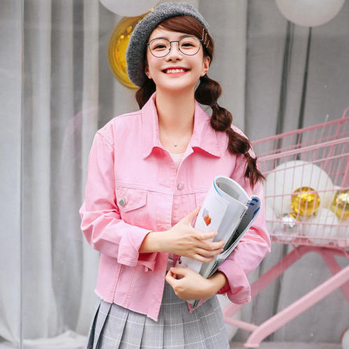 Pretty Pink Denim Jacket