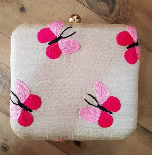 Butterfly Embrodiery Beautiful Clutch bag
