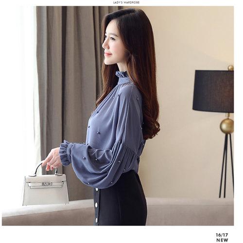 Designer Pearl Long Sleeve Top