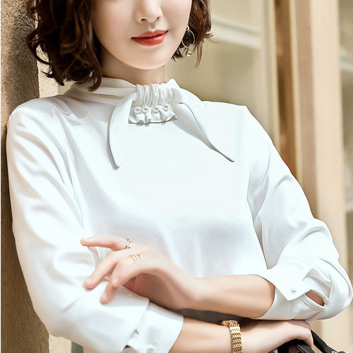 White Bow Knot Formal Top