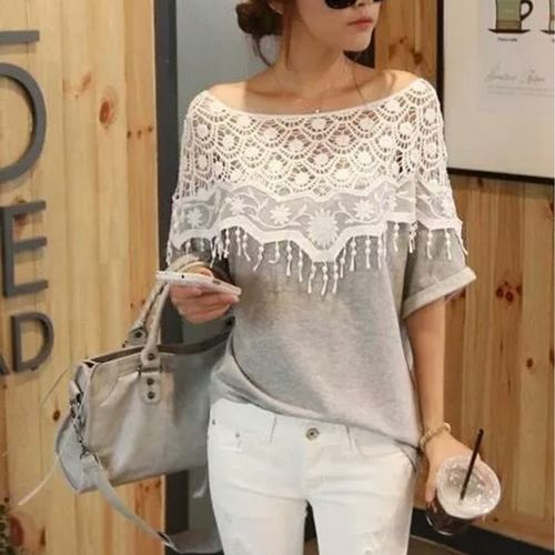 Lace Neck Smart Top