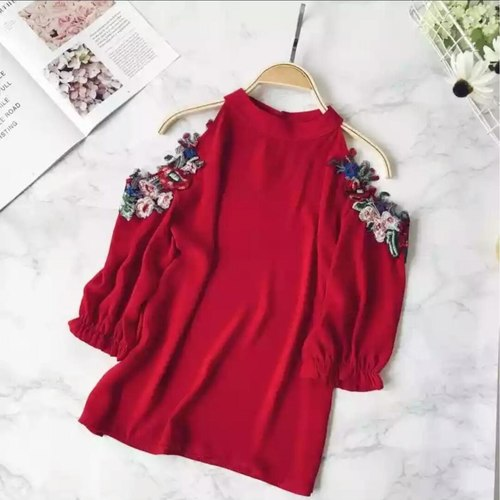 Embrodiery Off Shoulder Top
