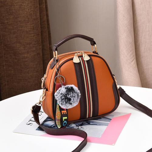 Stripe Messenger Bag