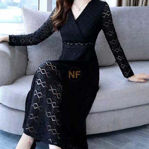 Party Wear Black Lace Dress