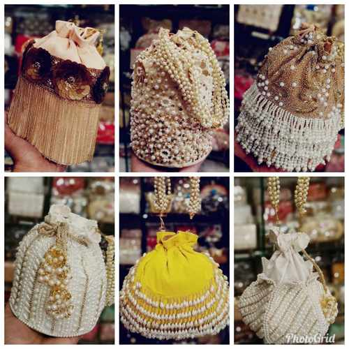 Designer Hand made Potli Pearl Bag