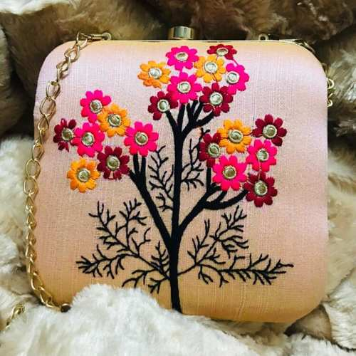 Embrodiery Work Beautiful Clutch