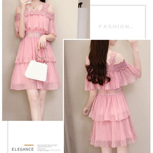 Ruffle Peach Short Dress