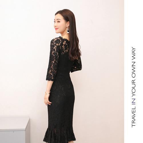 Mermaid Bodycon Black Dress