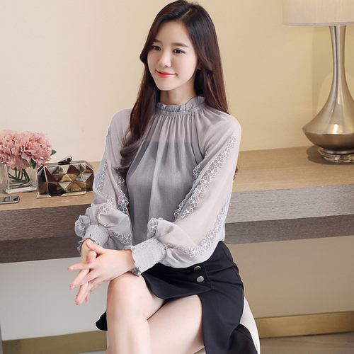 Chiffon Balloon Sleeve Top