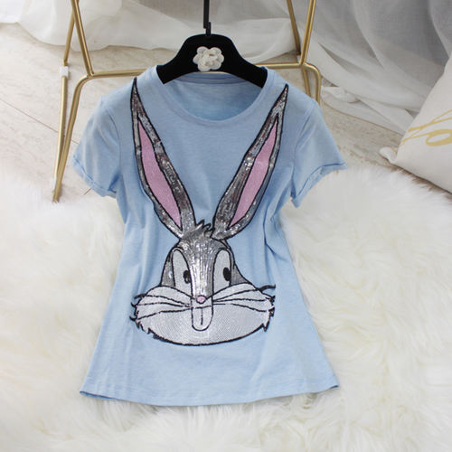 Sequin Bunny Cotton Tee