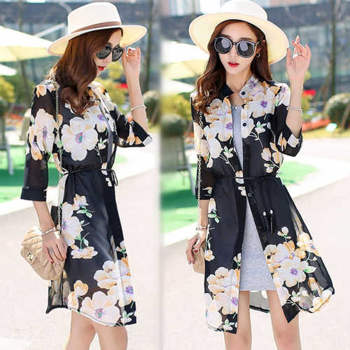 Floral Printed Long Shrug