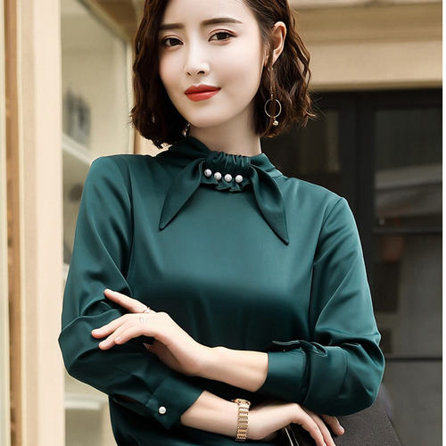 Bottle Green Bow Knot Top