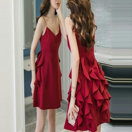 Party Wear Red Short Dress